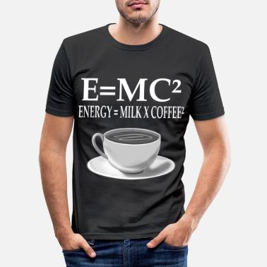 Milk E MC Nerd Energy is milk coffee gift - Men's Slim Fit T-Shirt