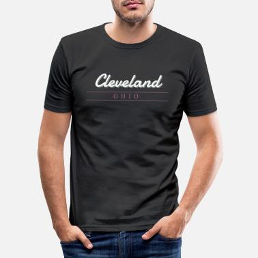 Cleveland Ohio typography - Men's Slim Fit T-Shirt
