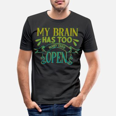 Open Brain Open - T-shirt slim fit herr