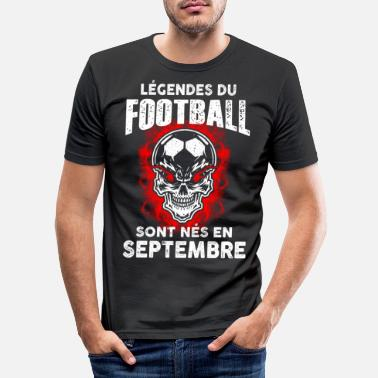 Soccer Septembre - Anniversaire - Football - Légende - FR - Mannen slim fit T-shirt