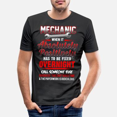 Time Mechanic - Fixed overnight - EN - Men's Slim Fit T-Shirt
