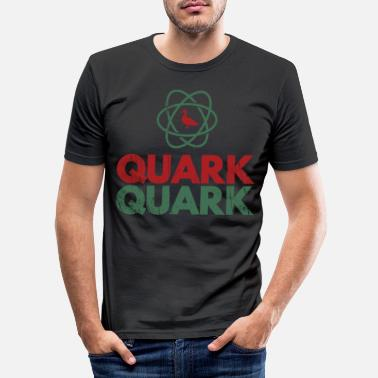Quark Funny Atomic Duck Quark Quark Retro Quark gift - Men's Slim Fit T-Shirt
