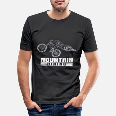 Mountainbiking Cool mountainbiking downhill stunt klatrere gave - Slim fit T-shirt mænd