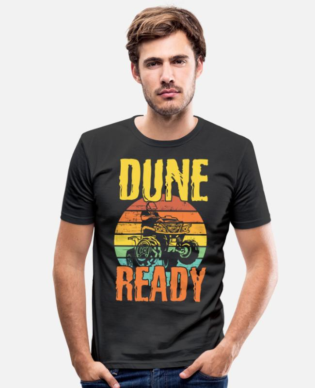 Buggies T-Shirts - Dune Quad Ready Dune Buggy Lover - Men's Slim Fit T-Shirt black