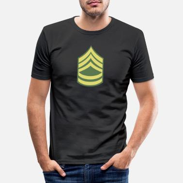 Rang Namn Military Uniform US Army Sergeant First Class - T-shirt slim fit herr