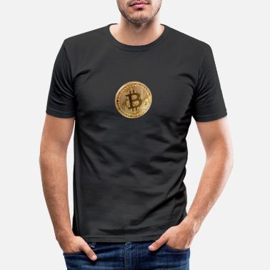 Piece bitcoin piece - Men's Slim Fit T-Shirt