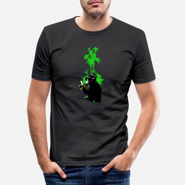 Bamboo monkey in bamboo - Men's Slim Fit T-Shirt