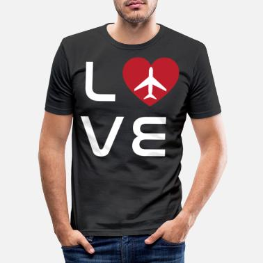 Model Pilot plane fly gift glider flight - Men's Slim Fit T-Shirt