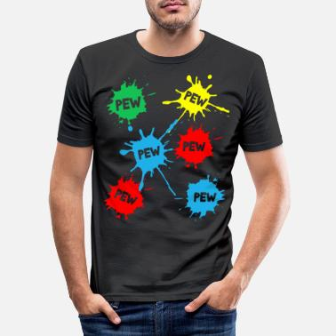 Paintball Paintball - Mannen slim fit T-shirt