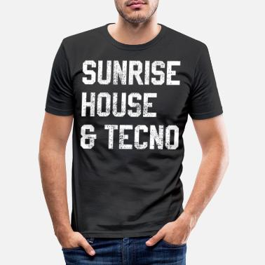 House House music techno afterhour - Camiseta ajustada hombre