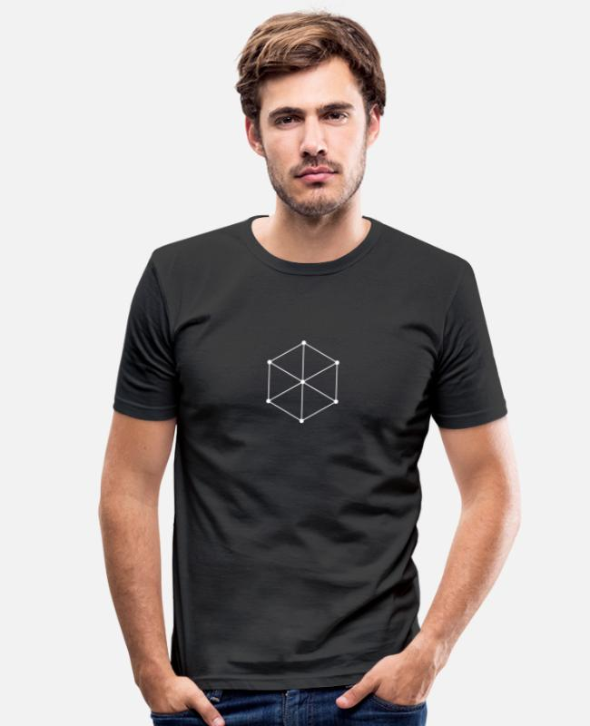 Hipster T-shirts - Cube - Slim fit T-shirt mænd sort