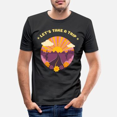 Hippies Take A Trip - Männer Slim Fit T-Shirt