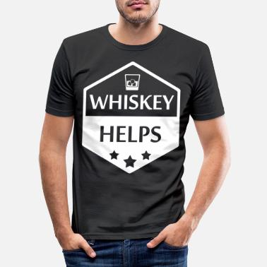 Snaps Whisky Burning Alcohol Rum Gin Liquor Gift - T-shirt slim fit herr