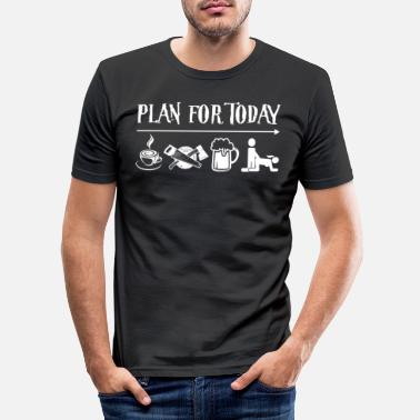 Planetcontest Plan For Today Coffee Carpenter Beer Then Sex - Männer Slim Fit T-Shirt