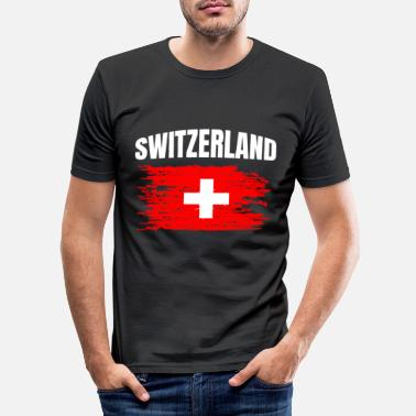 Switzerland Switzerland - Men's Slim Fit T-Shirt