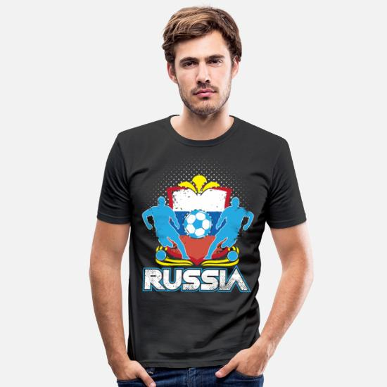 Love T-Shirts - World Soccer Russia / Football Love T-Shirt - Men's Slim Fit T-Shirt black