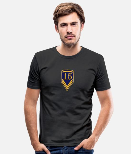 Pilot T-Shirts - Gift for the 15th Birthday - 15 years - Men's Slim Fit T-Shirt black
