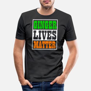 St Patricks Day Ginger Pride Ginger Lives Matter Gift - Mannen slim fit T-shirt