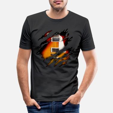 Guitarist E guitar in me - Men's Slim Fit T-Shirt