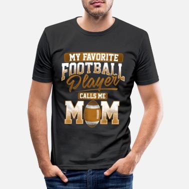 Rugby Football américain rugby footballeur maman maman maman - T-shirt moulant Homme