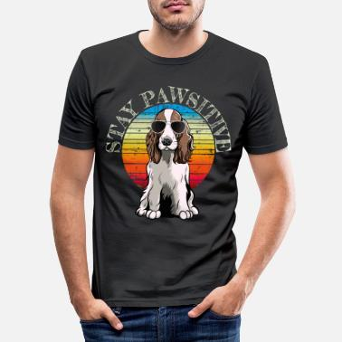 English English Springer Spaniel retro gift shirt - Men's Slim Fit T-Shirt