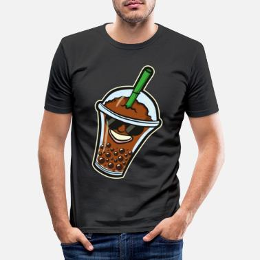 Milk Japan Otaku Anime Boba Bubble Tea Kawaii Gift - Men's Slim Fit T-Shirt