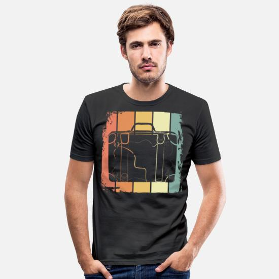 Ferie T-shirts - Wanderlust ferie - Slim fit T-shirt mænd sort