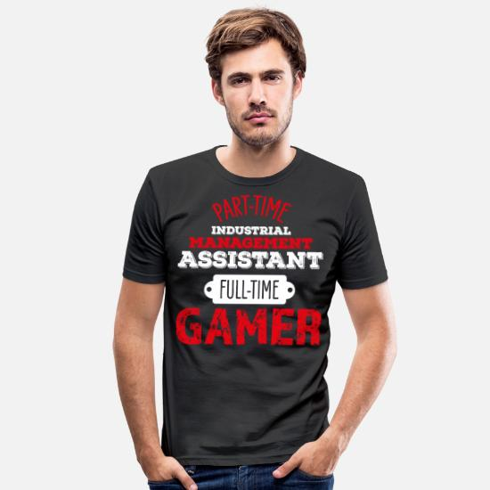 Mother T-Shirts - Industrial Clerk Industrial Clerk gambling gamers - Men's Slim Fit T-Shirt black