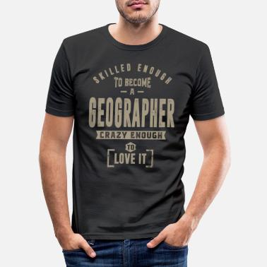 Geographic Geographer - Men's Slim Fit T-Shirt