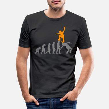 Boarder EVOLUTION Skater Skateboard Skate skaten freestyle - Männer Slim Fit T-Shirt