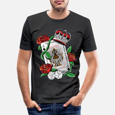 Ace Of Spades Ace of Spades Texas Holdem Poker Playing Card tee - Men's Slim Fit T-Shirt