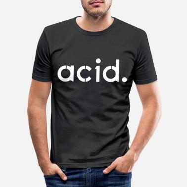 Acid Rap Techno - Techno musik - Acid - Rave - Slim fit T-shirt mænd