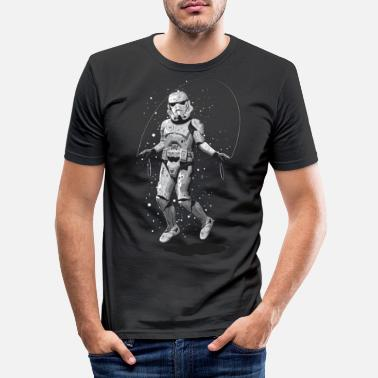 STORMTROOPER SKIPPING - Männer Slim Fit T-Shirt