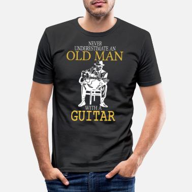 Old Never Underestimate An Old Man With A Guitar .png - Men's Slim Fit T-Shirt