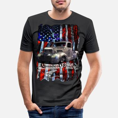 Usa Thunder V8 Fargo Truck sinds 1947 100% tevreden - Mannen slim fit T-shirt