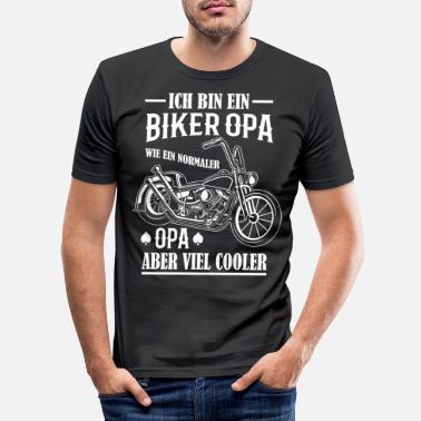 Opa Fährt Motorrad Biker Opi Kinder T-Shirt