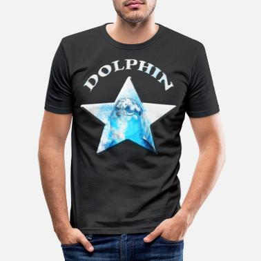 Oil dolphin - Men's Slim Fit T-Shirt