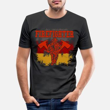 Brandweerman - Mannen slim fit T-shirt