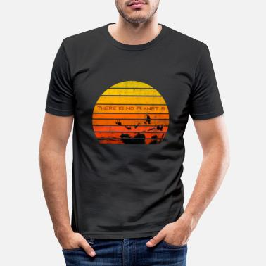 Join There Is No Planet B Sunset - Men's Slim Fit T-Shirt