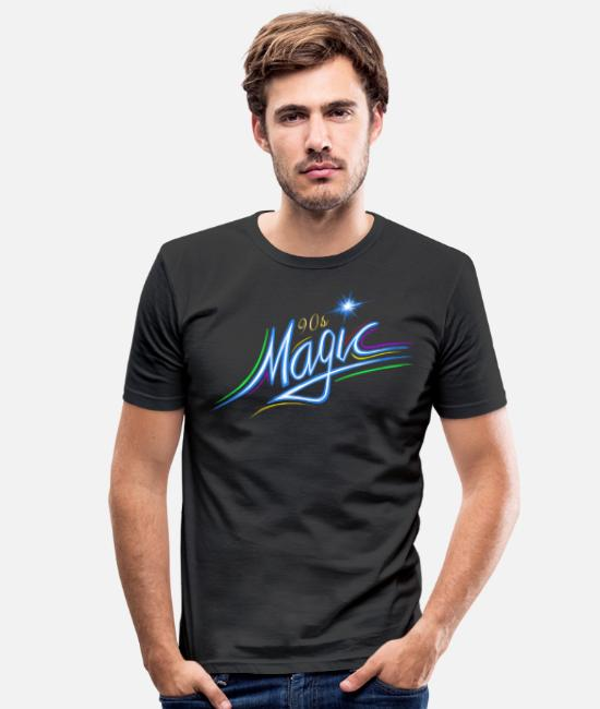 Love T-Shirts - I love the 90's Magic Magic wizard magic - Men's Slim Fit T-Shirt black