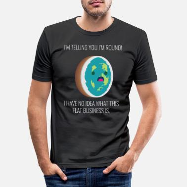 Map Flat Earth Shirt Society Flat Earth Map Slice - Men's Slim Fit T-Shirt