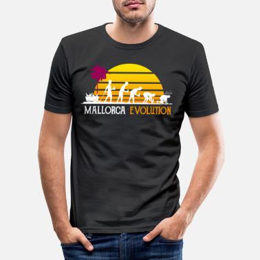 Beerpong Mallorca Evolution Party Holiday - T-shirt slim fit herr