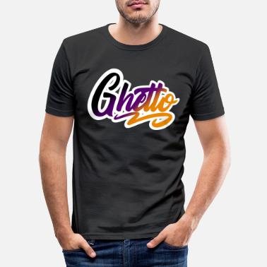 Getto getto - T-shirt slim fit herr