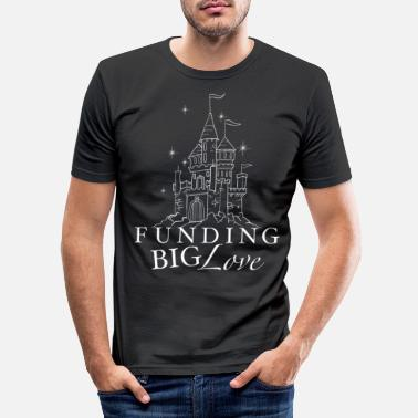 Funges FUNGING BIG LOVE princess castle - Men's Slim Fit T-Shirt