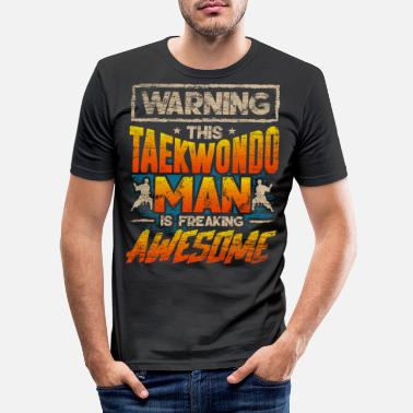 Tae Kwon Do Tae kwon do fighter - Men's Slim Fit T-Shirt