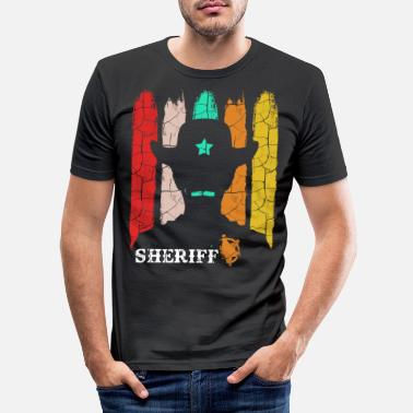 Retro Retro sheriff - Men's Slim Fit T-Shirt