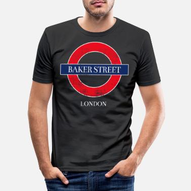 Underground Baker Street - Men's Slim Fit T-Shirt