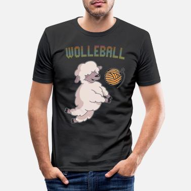 Wool Wool wool ball - Men's Slim Fit T-Shirt