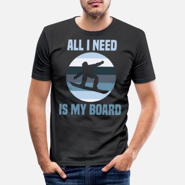 Down Snowboard driver Snowboard driver winter vacation - Men's Slim Fit T-Shirt