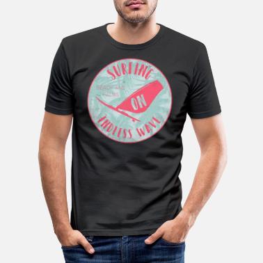 Palmeras Surf Palmeras surf ola - Camiseta ajustada hombre b302c9f68fc
